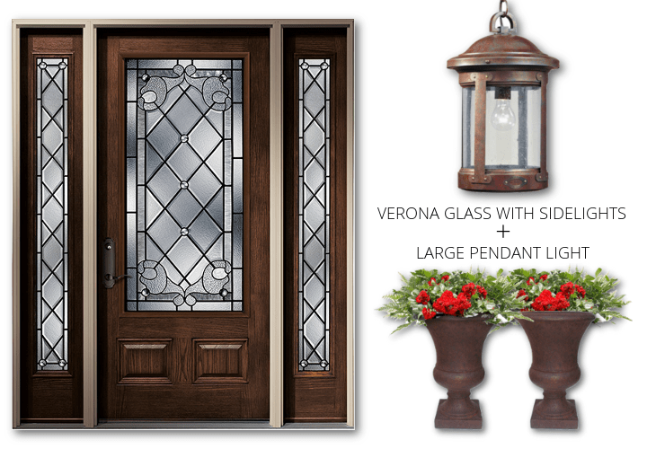 VERONA GLASS WITH SIDELIGHTS