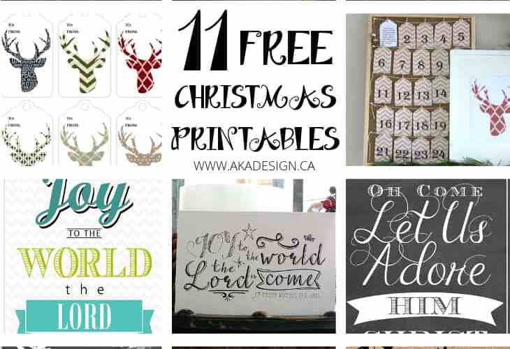 11 free Christmas printables