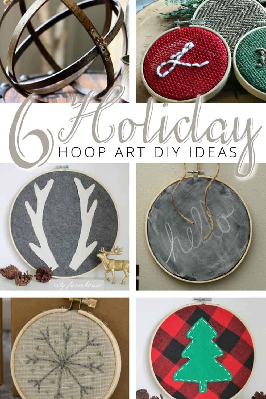 6 Holiday Embroidery Hoop Art DIY Ideas