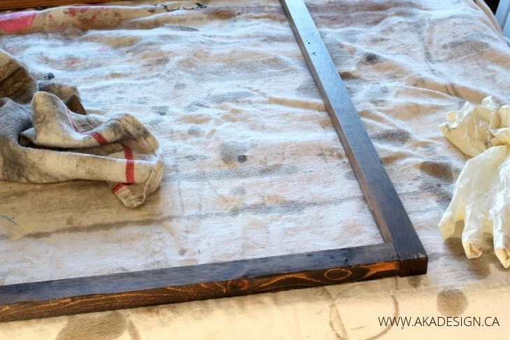 STAINED DIY WOOD CANVAS FRAME