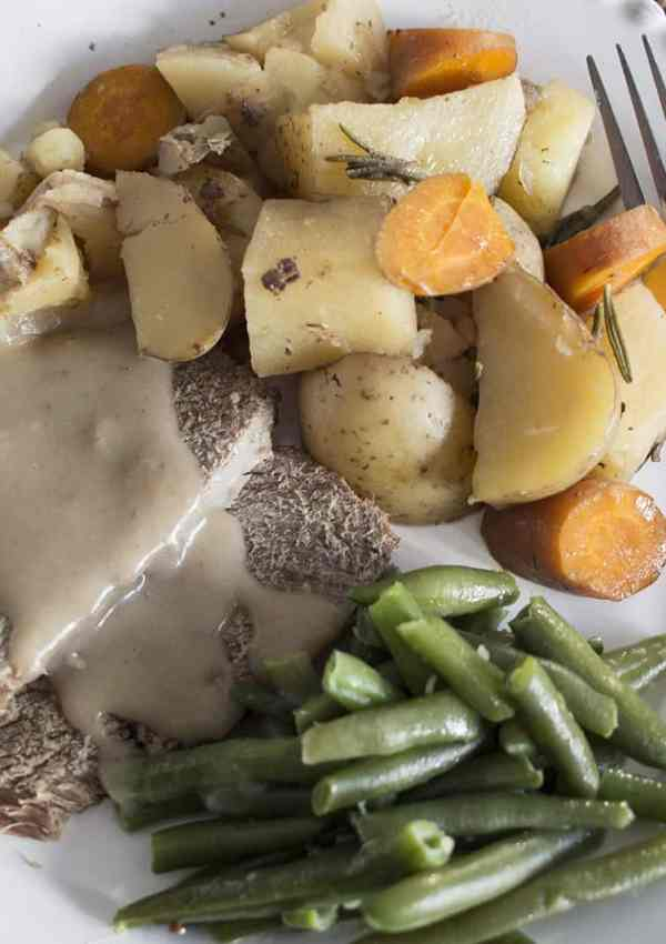 slower cooker roast beef dinner from frozen