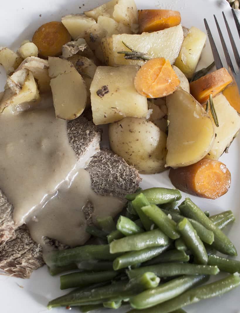 slower cooker roast beef dinner from frozen