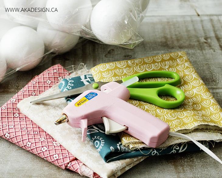 DIY Rag Balls Supplies