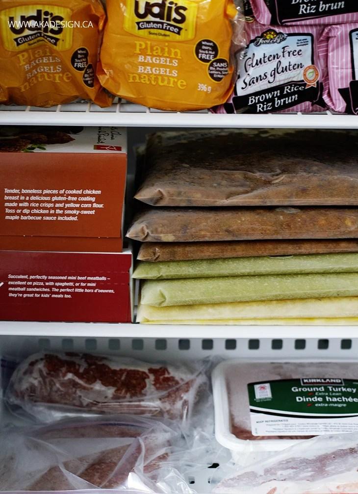 Food storage - freezer