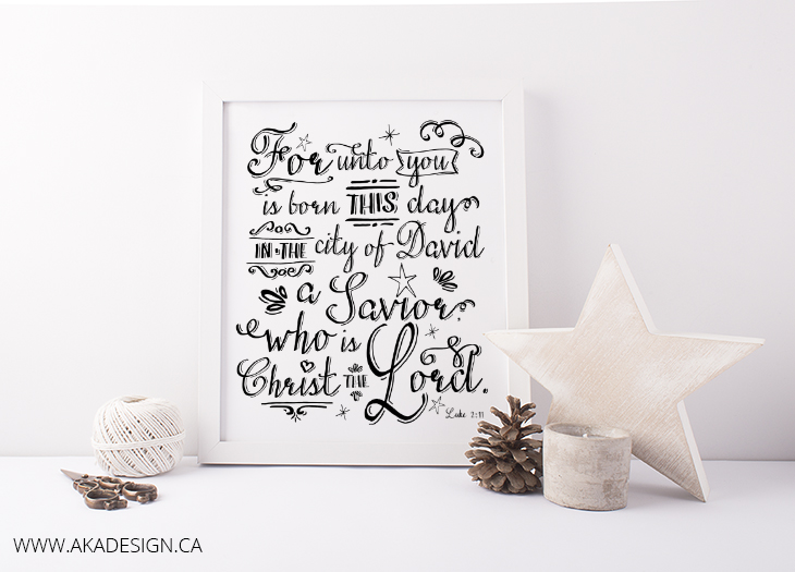 For unto you is born this day printable