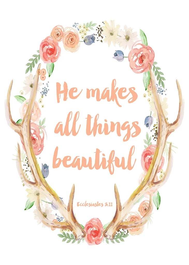 He Makes All Things Beautiful free printable