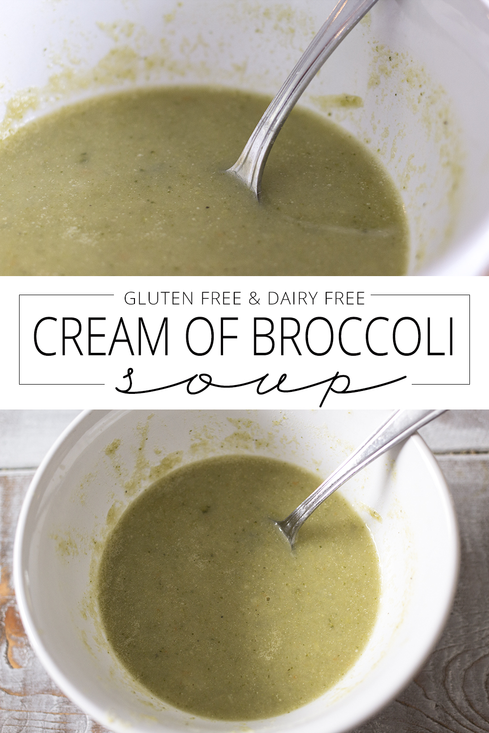 dairy free cream of broccoli soup pin