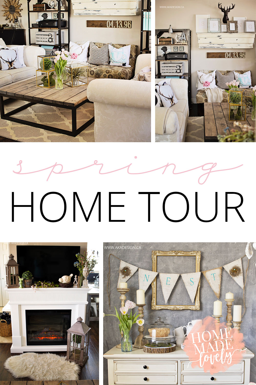 Around here we decorate for the seasons. It's our way of celebrating the everyday things. Today we're sharing our spring home tour!