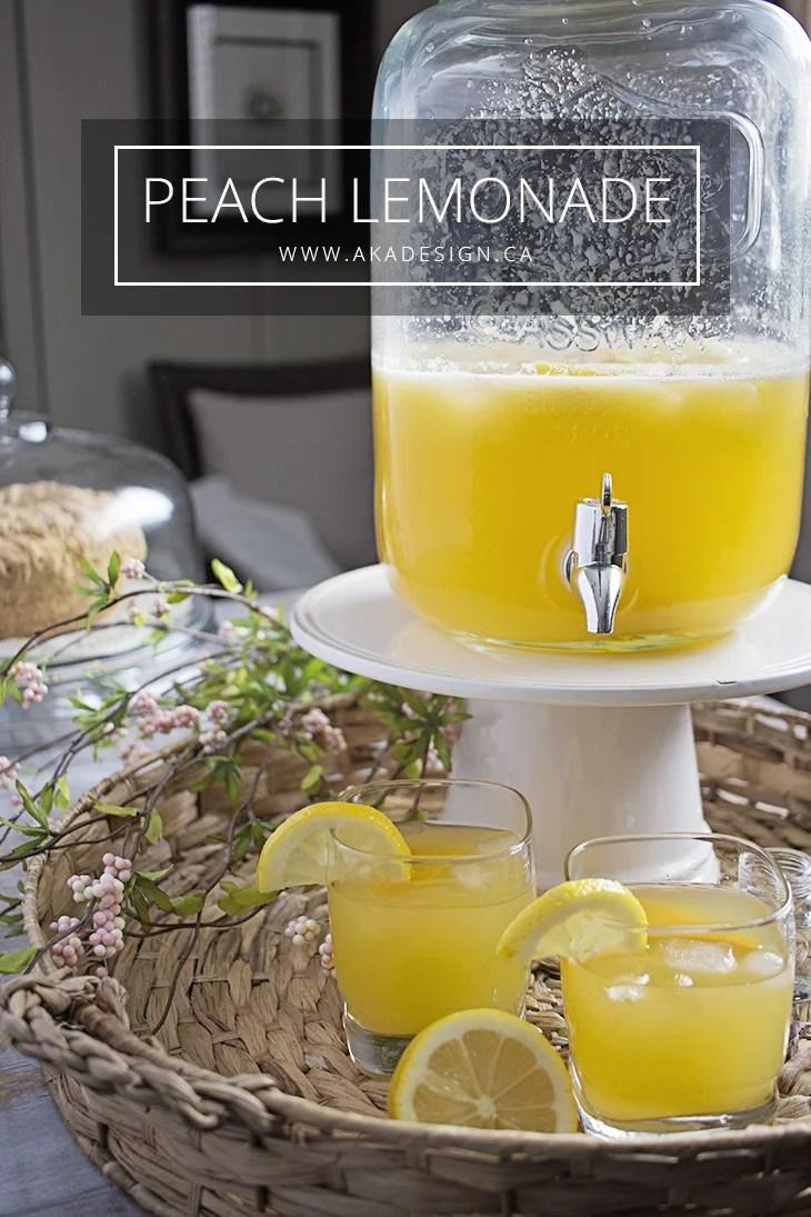Peach Lemonade spiked or virgin