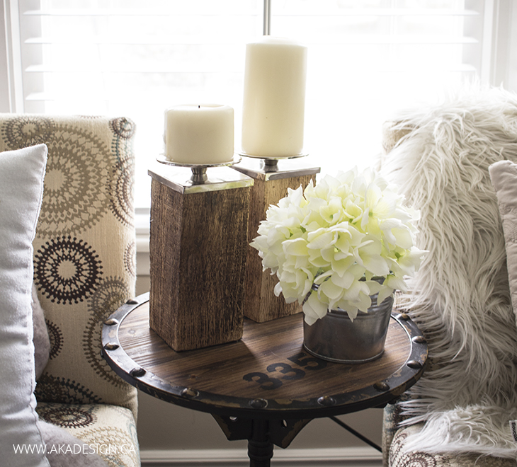 Living Room - Wood Block Candle Holders