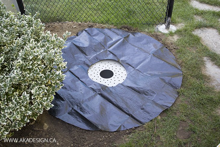Lay Ground Skirt for Fountain