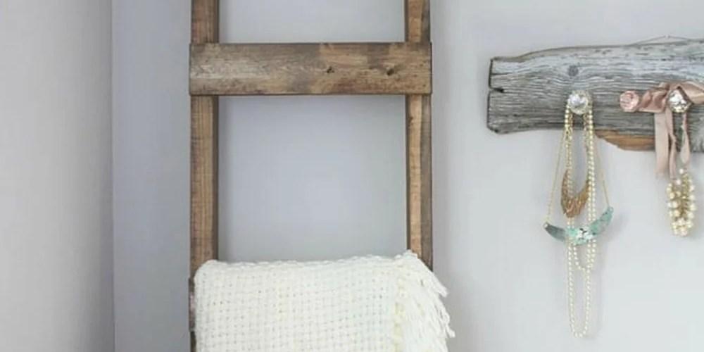 30 minute diy blanket ladder