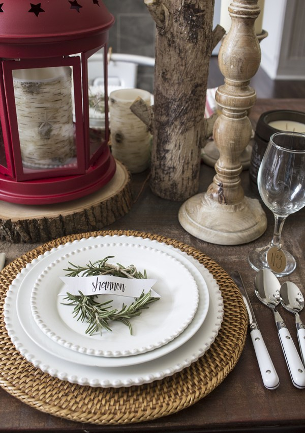 How to Make Rosemary Wreath Christmas Place Cards
