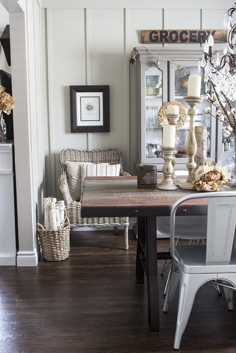 Home Made Lovely Rustic Fall Dining Room 2