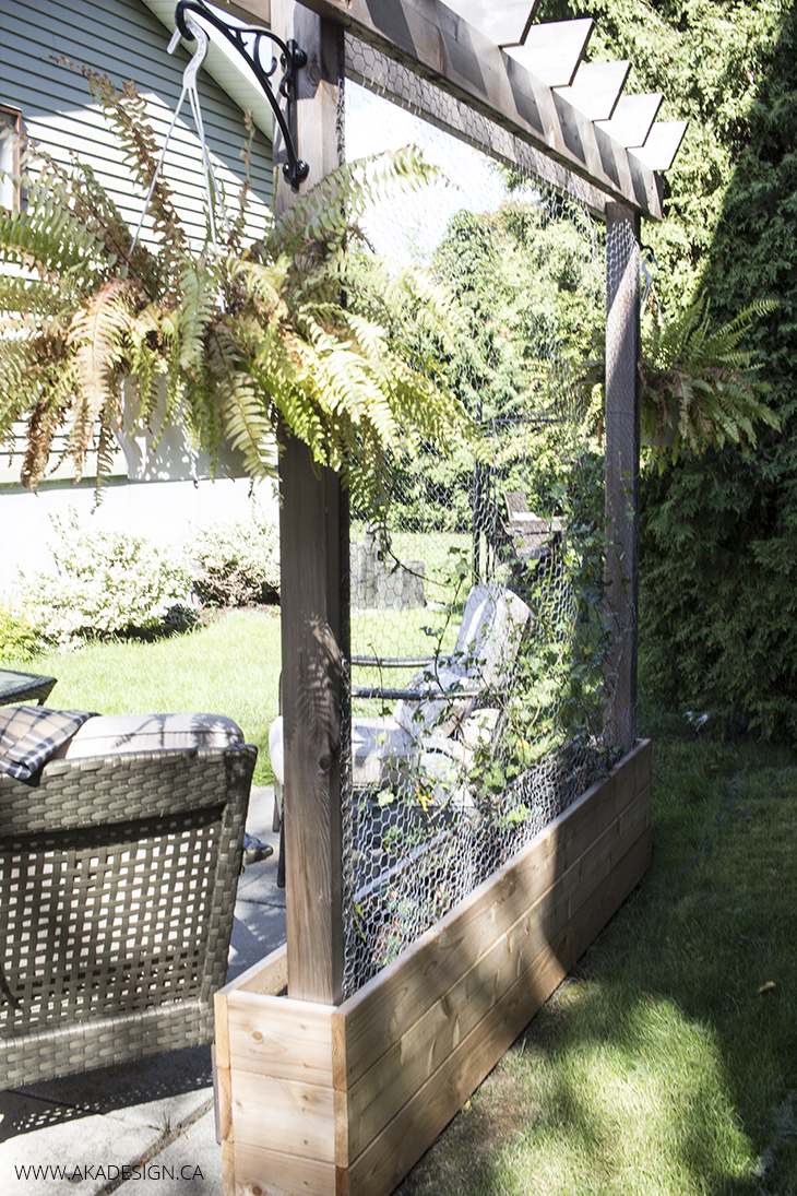 Raised garden with trellis Home Made Lovely