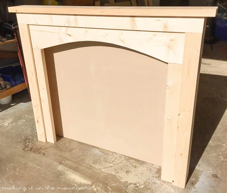 DIY Faux Fireplace