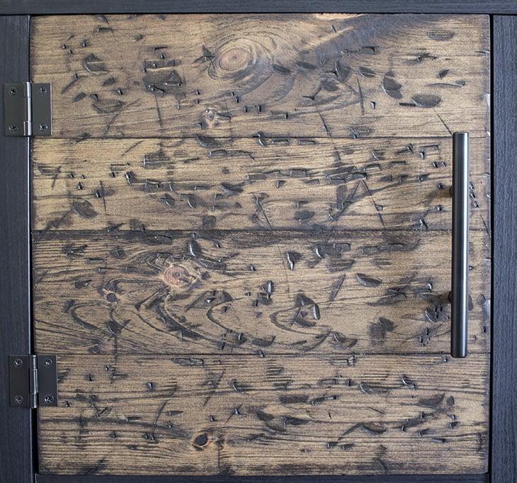 DIY Rustic Cube Shelves Wood Door Detail Home Made Lovely