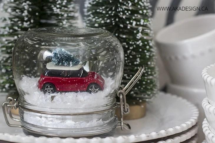 Mini Cooper Christmas Tree Snow Globe