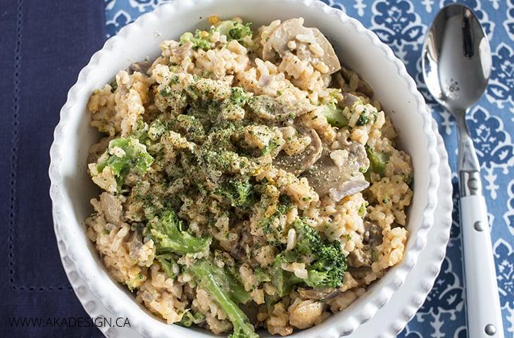 diary free chicken rice broccoli casserole