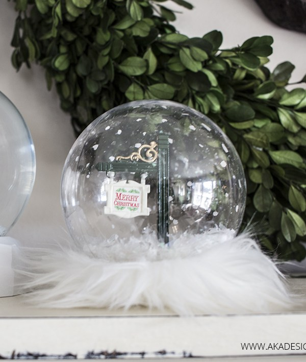Glam Christmas Snow Globe Craft for Teenagers