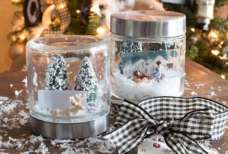Starbucks Gift Card Snow Globes