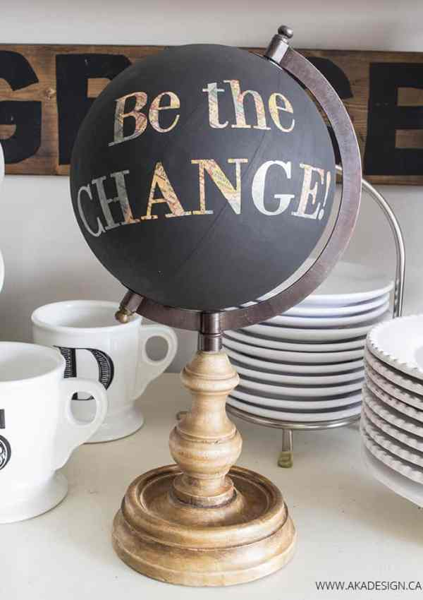 Easy Painted Globe – Be the Change!
