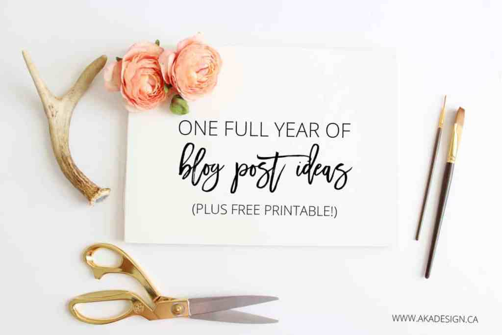 ONE-FULL-YEAR-OF-BLOG-POST-IDEAS