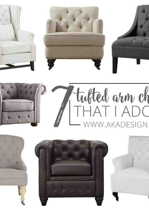 7 Tufted Arm Chairs I Adore