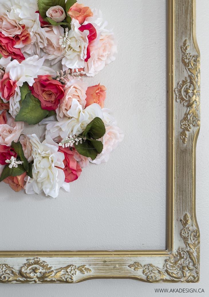 Floral S Antique Frame
