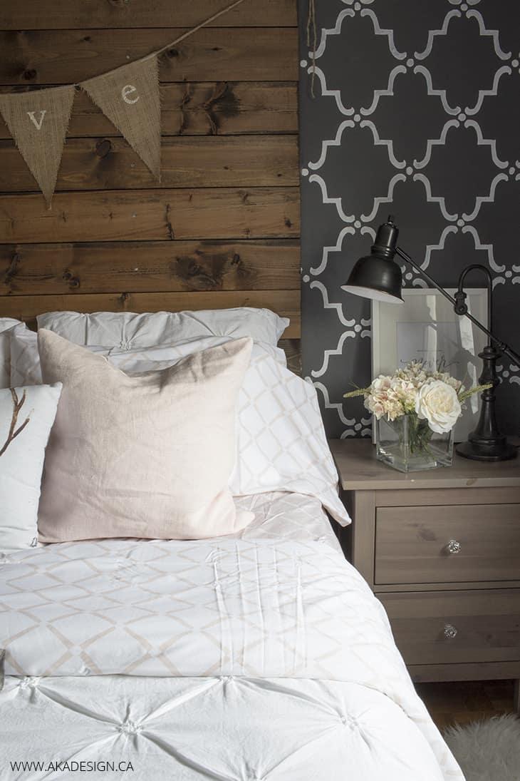 Blush Pink and Grey Master Bedroom