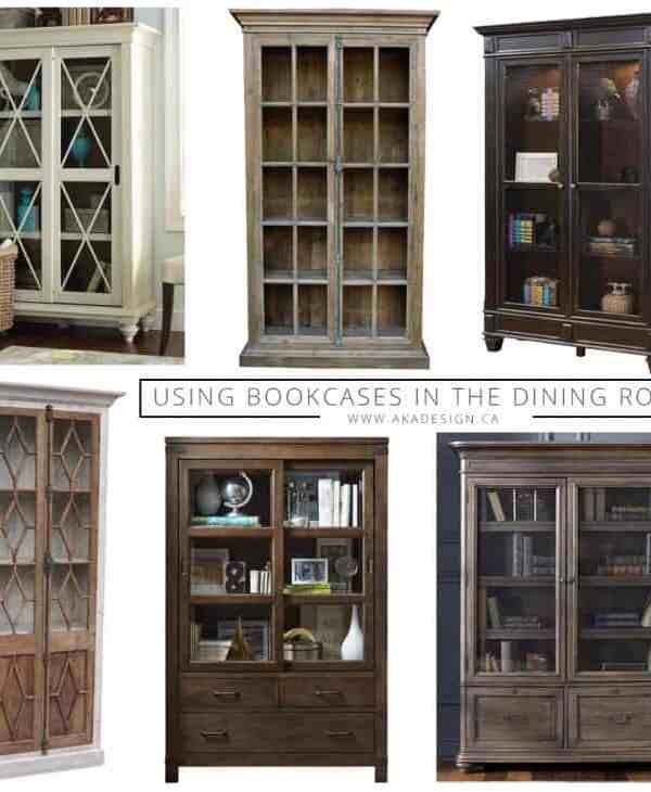 Using Bookcases in the Dining Room!
