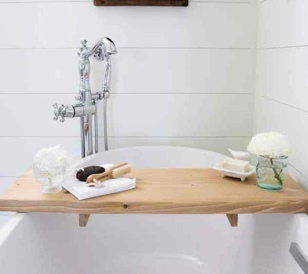 DIY Bathtub Tray – So You Can Enjoy That Hot Bath Even More!