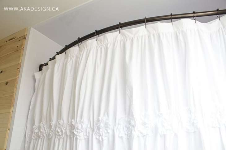 Oil Rubbed Bronze Curved Shower Curtain Rod