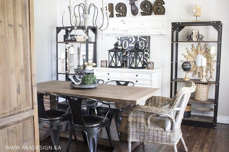 french industrial dining room