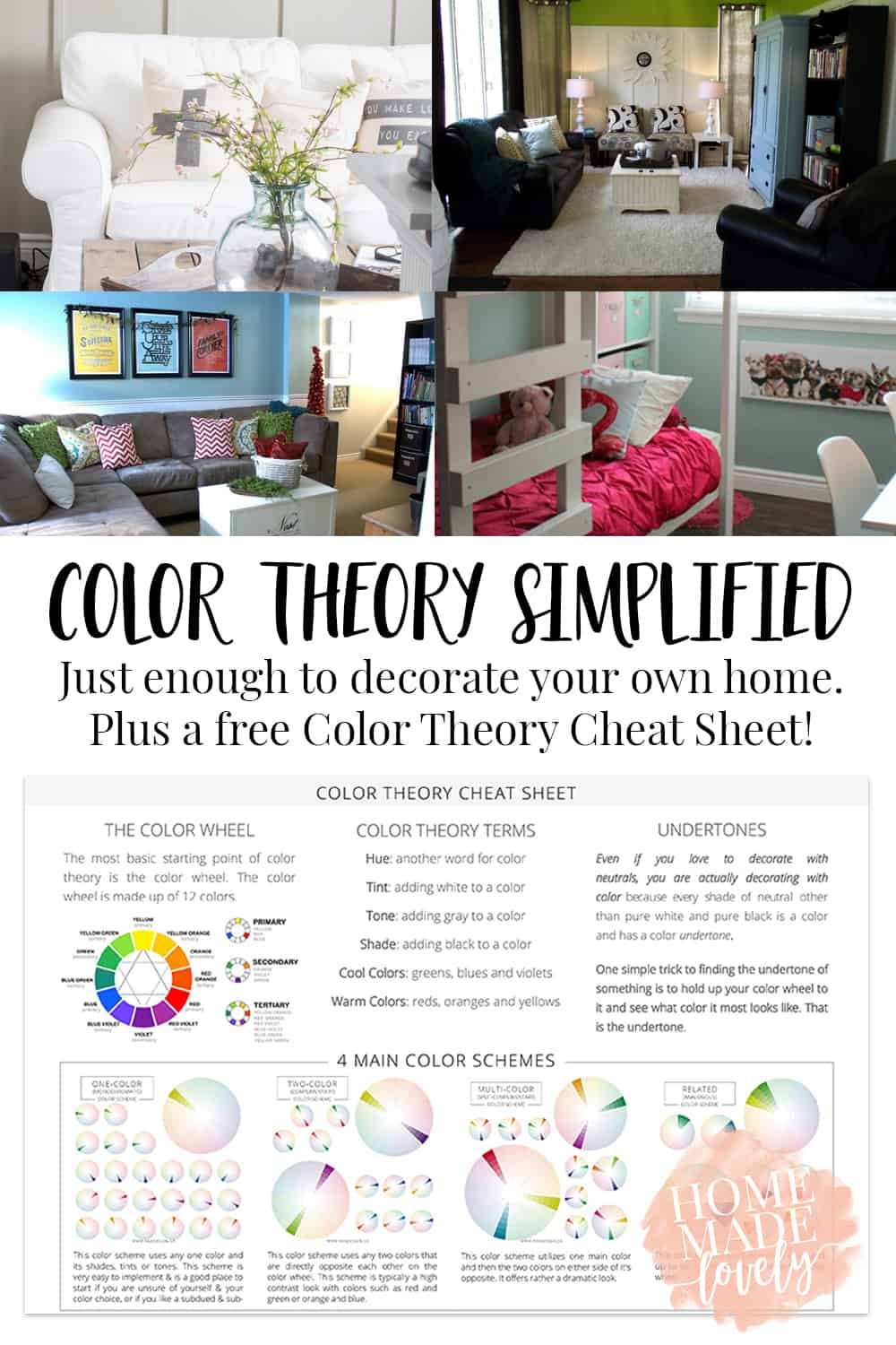 color theory cheat sheet pin