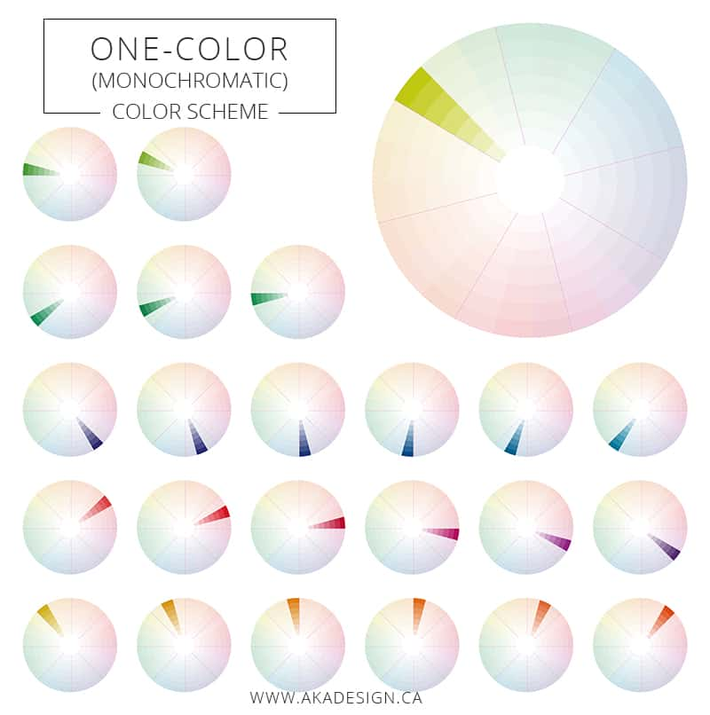 One color monochromatic color scheme
