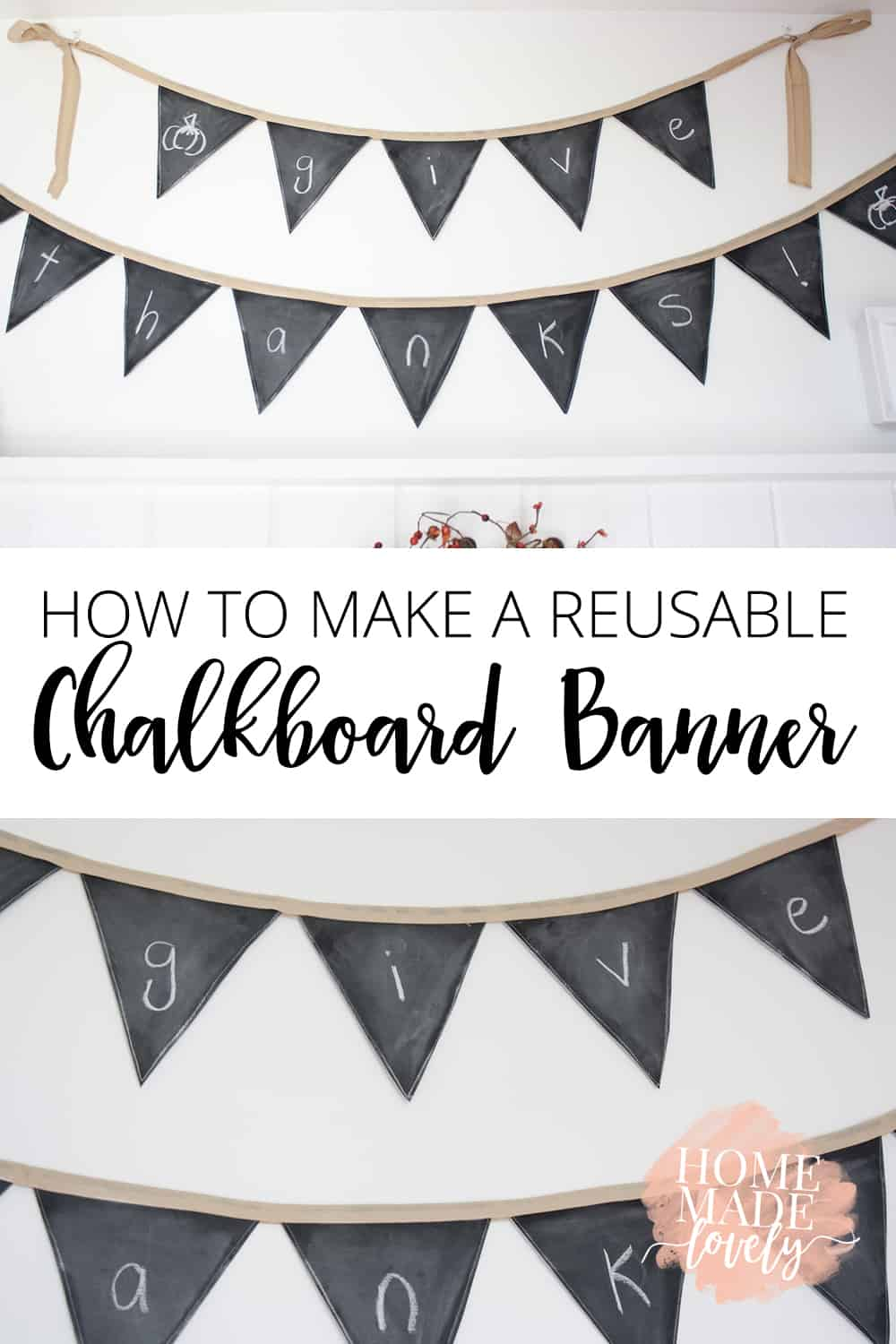 how to make a reusable chalkboard banner pin
