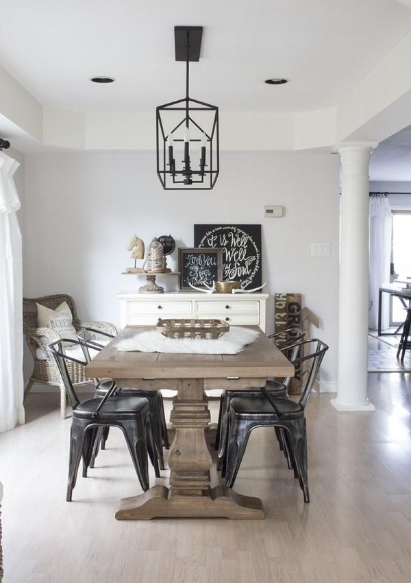 Monochromatic Dining Room