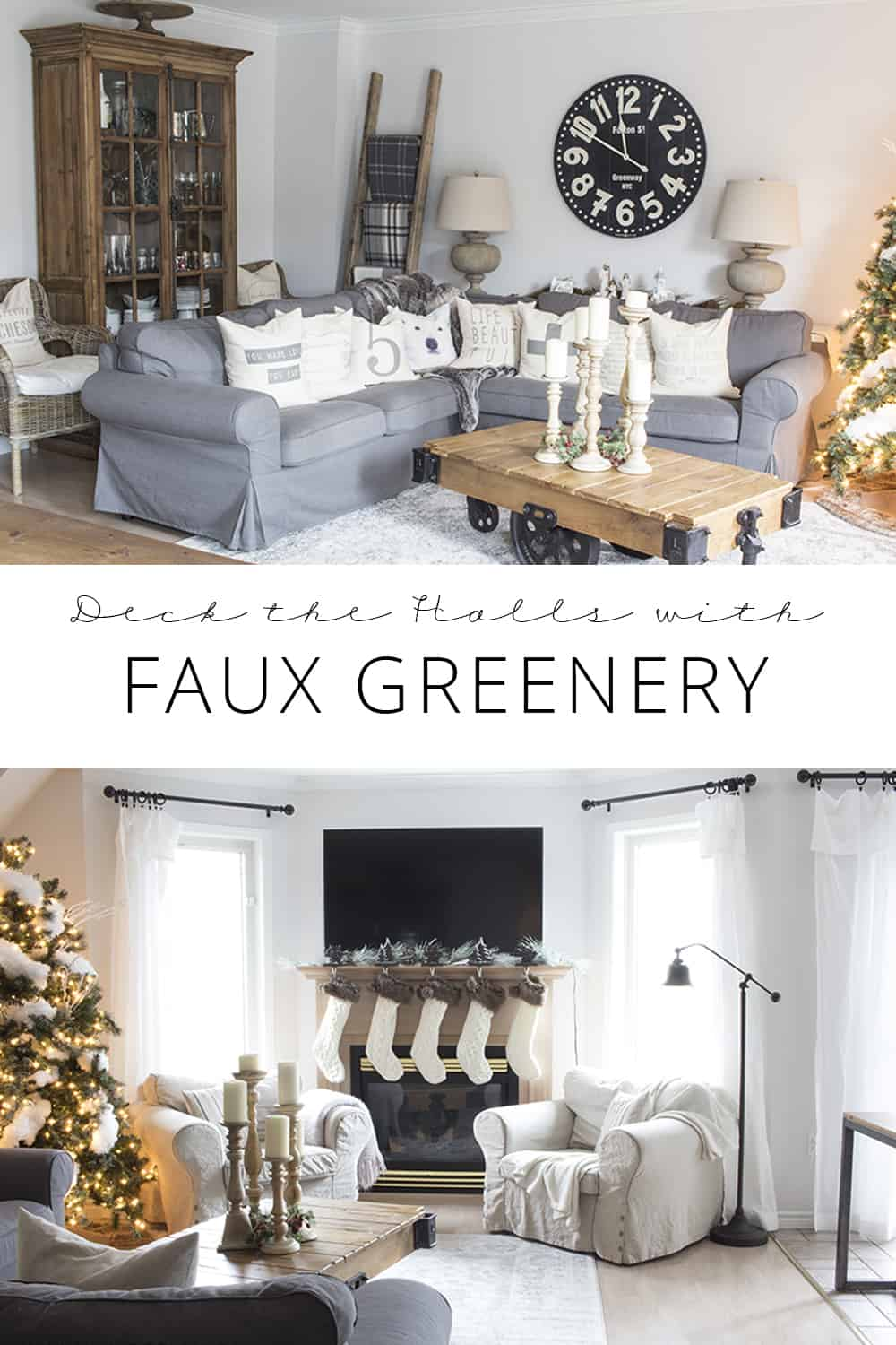 deck the halls with faux greenery