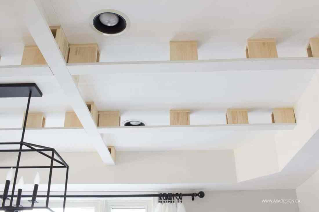diy coffered ceiling - how to diy a professional looking coffered