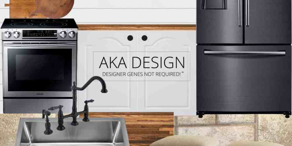 AKA Design - our modern farmhouse kitchen makeover style board