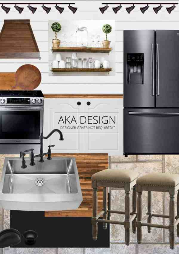 Our Modern Farmhouse Kitchen Makeover | Style Board and Plans