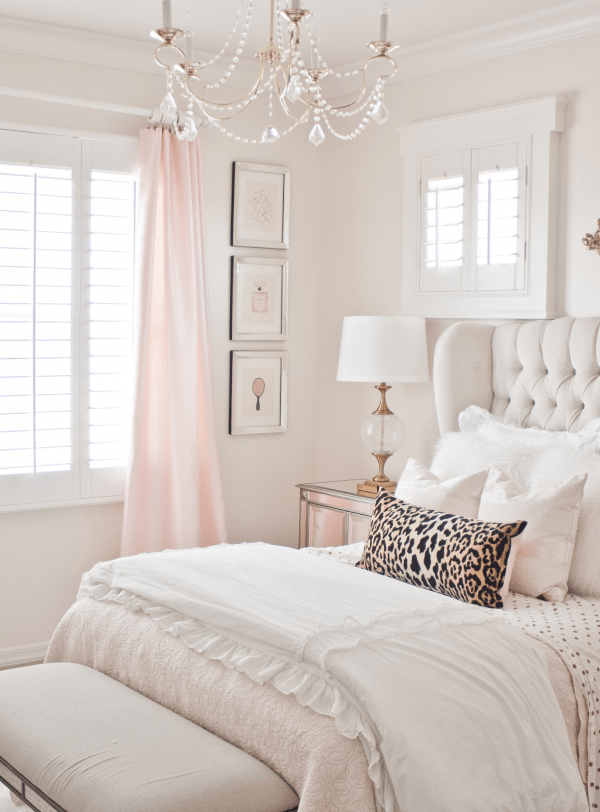 Pink and Gold Girl's Bedroom Makeover | Before Photos, Plans and Inspiration