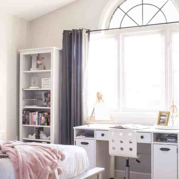 Neutral & Pink Girls' Room