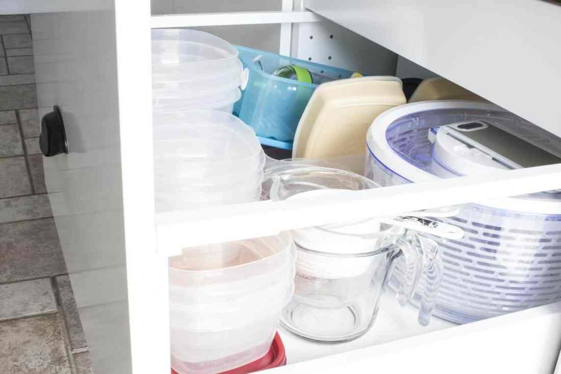 plastic container drawer