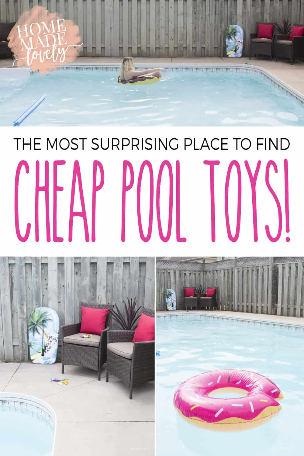 Buying new things for a pool can be expensive! But you'll never guess where we got ours! Here's the most surprising place to find pool toys!