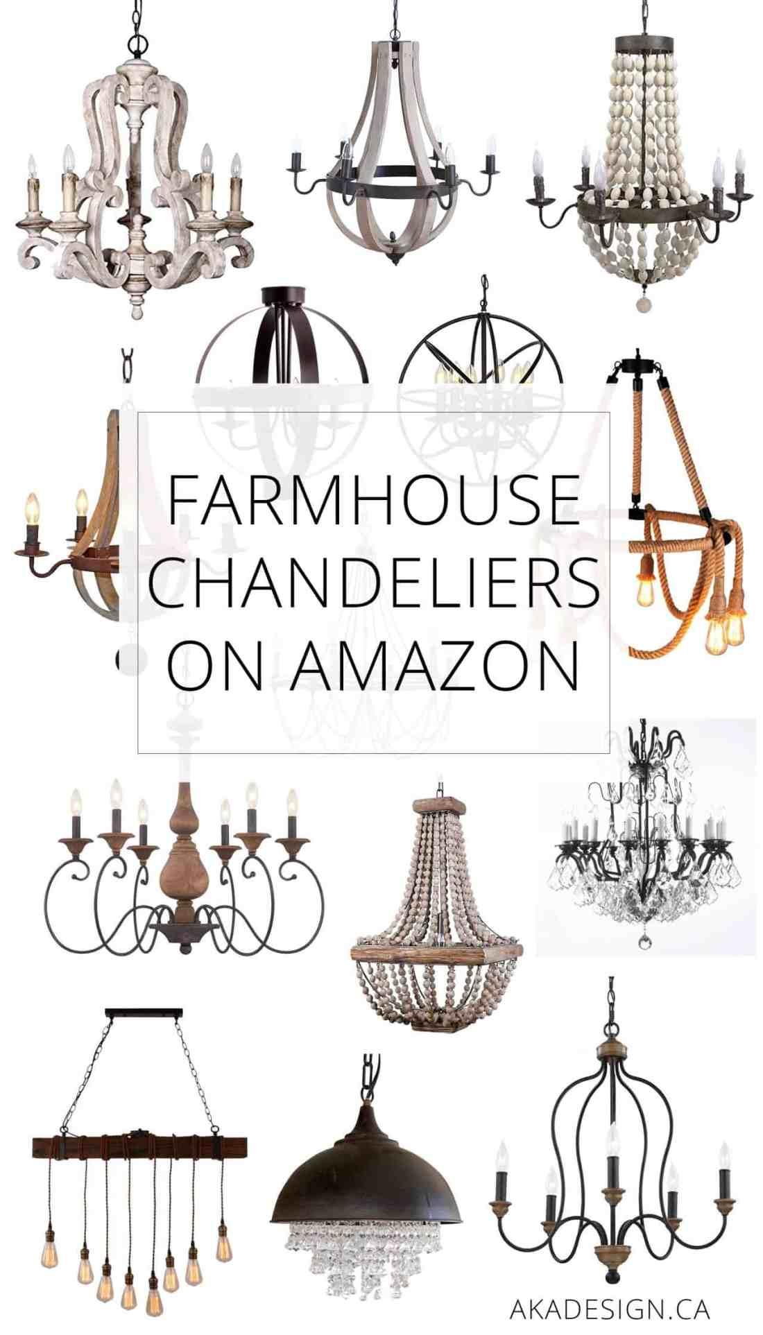 Farmhouse Chandeliers on Amazon
