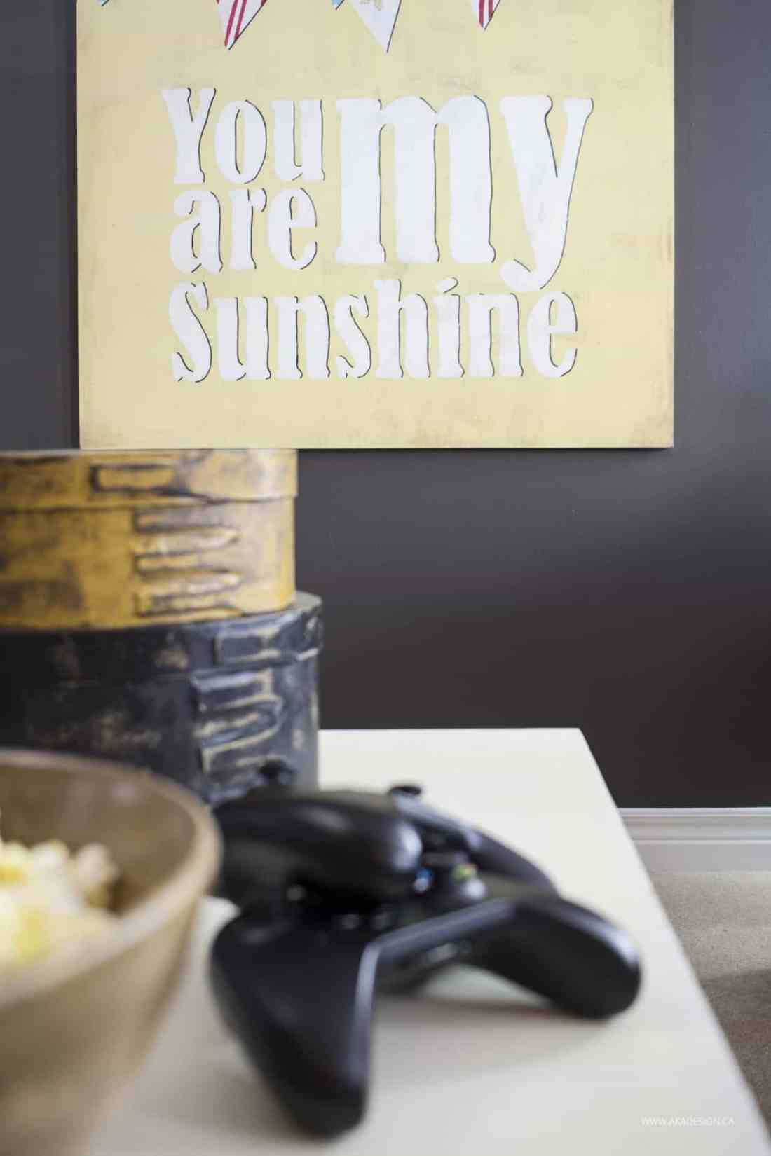 Home Made Lovely You Are My Sunshine Art
