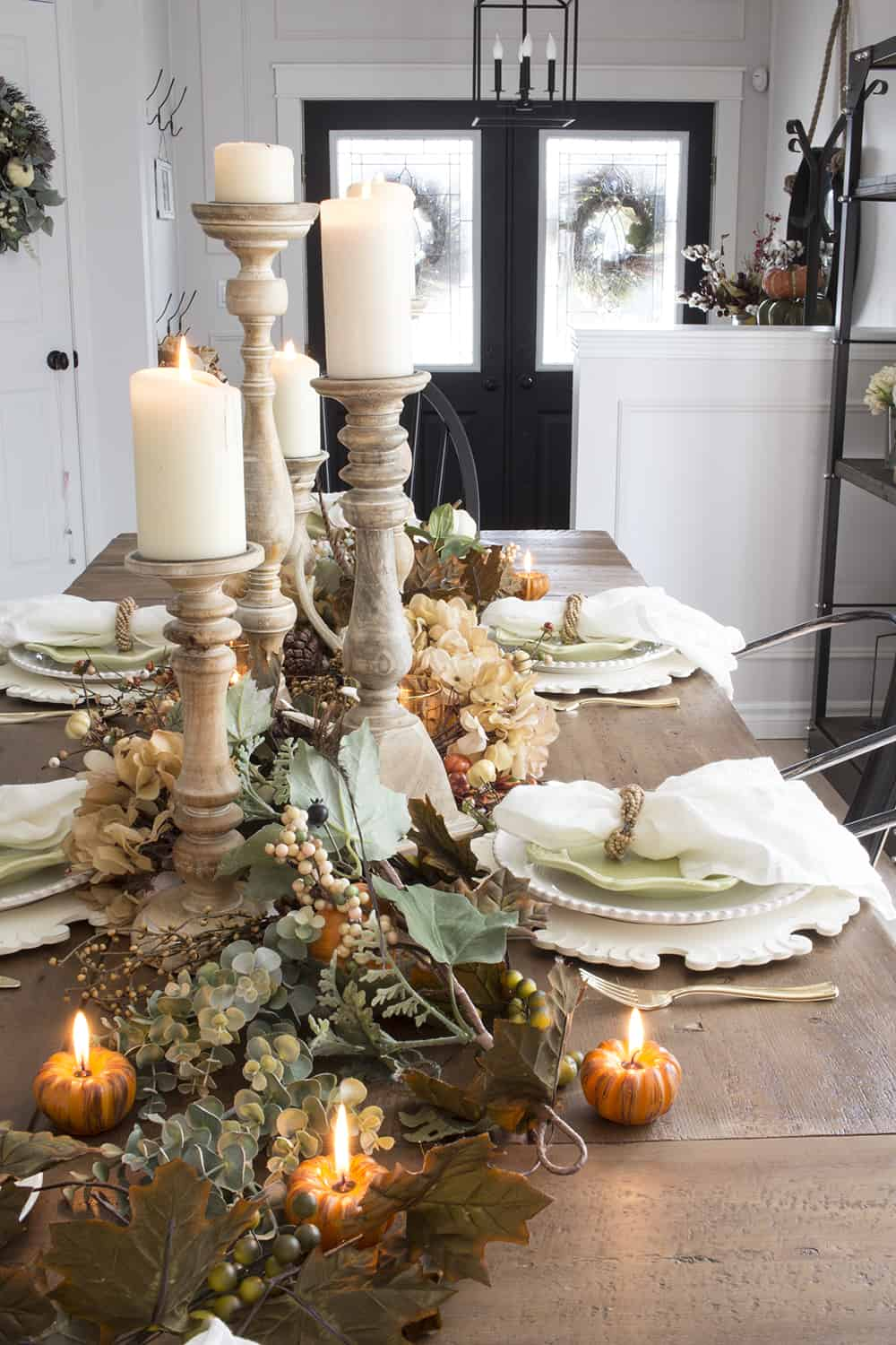 fall dining room and entry