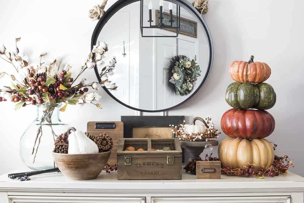 farmhouse fall entryway